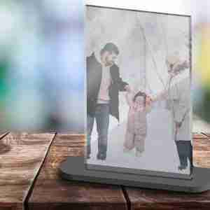 High Gloss Acrylic Photo Print and Stand