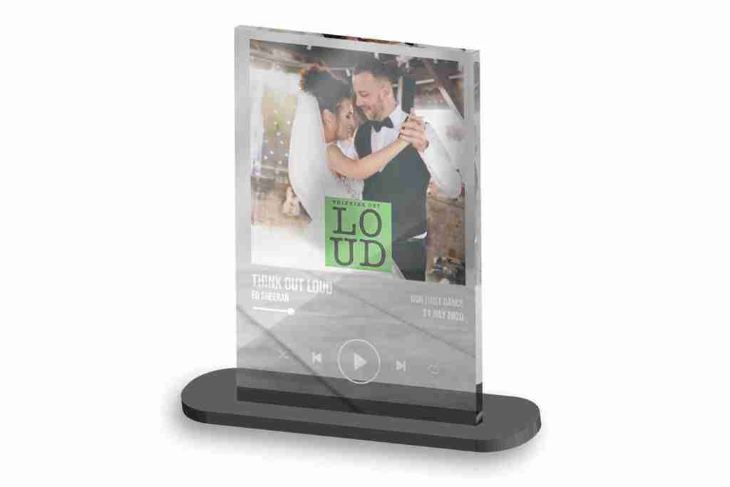 Save the Moment - Acrylic Photo Print and Stand, getitprinted.com