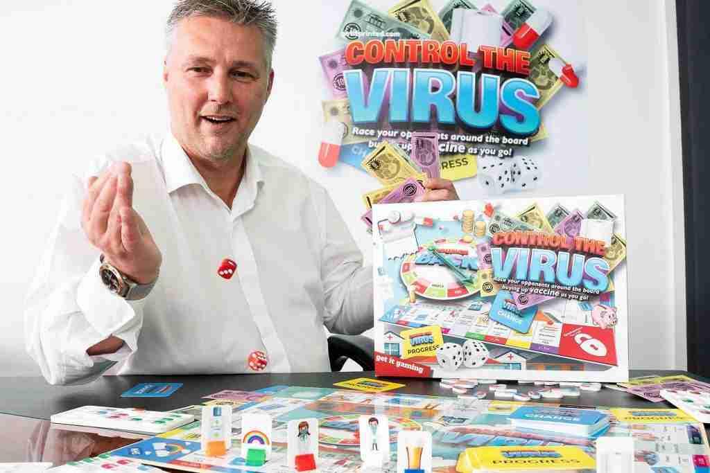 Control the Virus Board Game, getitprinted.com